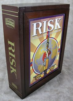 RISK Vintage Strategy Game Collection Wood Box 2009 Book Shelf Edition COMPLETE  #Hasbro