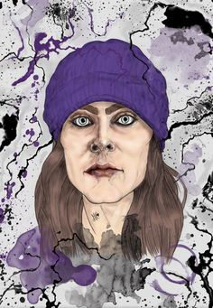 Illustration. Ville Valo. Pencil on paper + digital painting. A3 size.