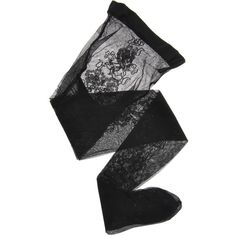 EMPORIO ARMANI Floral Black Sheer Tights (482.755 IDR) ❤ liked on Polyvore featuring intimates, hosiery, tights, socks, accessories, lingerie, sheer tights, lingerie hosiery, lingerie stockings and floral lingerie