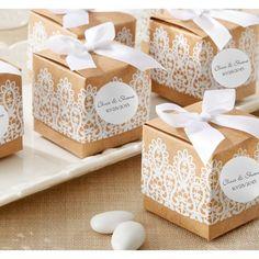 Rustic Lace Favor Boxes