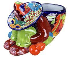 Talavera Siesta Man Flower Pot