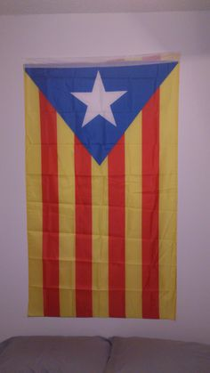 This is the flag of my country region. The star symbolizes the independence, as in the Cuba's flag.