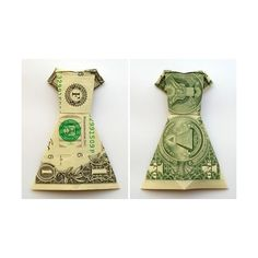 money origami dress instructions