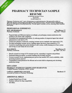 read our pharmacy technician resume sample and learn emphasize your efficiency and organizational skills in a - Pharmacy Technician Resume Template