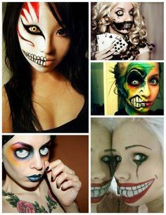 Cool face paint ideas for halloween.