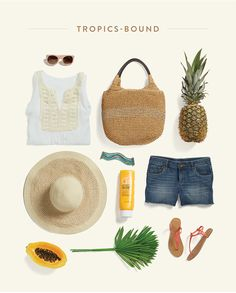 Stylist Tips: Summer Vacation Style Love the bag in this set.