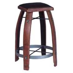 24-Inch Chocolate Leather Stool
