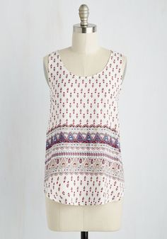 Strobes and Maps Top. Upon charting out your dance party trek across the country, you slip intothis white tank and get to hitting the road! #white #modcloth