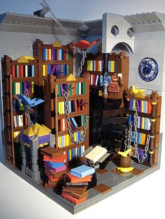 #LEGO Library. Two of our very favorite things--LEGO and Libraries. How could we not share :) You have to check out the details in this build--really awesome!