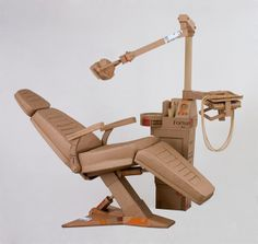 Chris Gilmour cardboard dentist chair, via Passion For Paper & Print