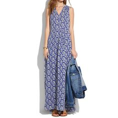 Madewell - Silk Maxidress in Daisy Tumble