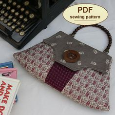 Sewing pattern to make the Home Guard Clutch Bag  by charliesaunt, $8.00