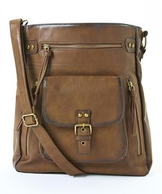 Look at this T-Shirt & Jeans Brown Crossbody Bag on #zulily today!