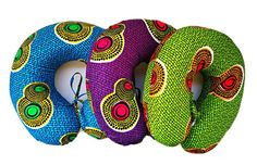 Image of African Print Fabric Neck Pillows African Crafts, African Home Decor, African Fashion Designers, African Print Fashion, Africa Fashion, Ankara Fashion, Style Africain, African Accessories, African Jewelry