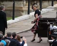 Sophie, the Countess of Wessex opted for an elegant floral dress for the occasion. Her husband, Prince Edward, also attended