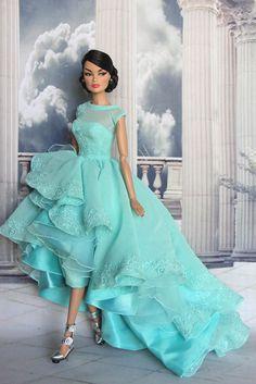 Aqua | Turquoise | barbie doll dress
