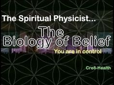 Biology of Belief - The most important hour of your life - Bruce Lipton Science Of Consciousness, Higher Consciousness, Biology Of Belief, Holistic Practitioner, Quantum Physics, Physicist, Spiritual Health, Subconscious Mind, Ted Talks