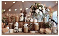 rustic decor with cotton