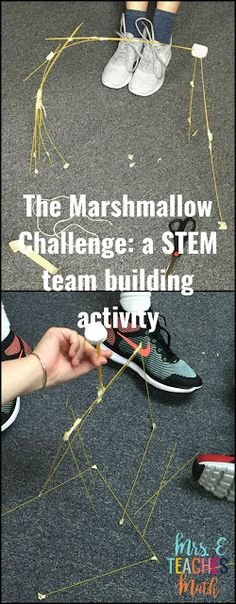 The Marshmallow Challenge: a STEM team building activity perfect for students who have special learning needs. Engaging and hands on. Team Building Activities For Adults, Teamwork Activities, High School Activities, First Day Of School Activities, Activities For Teens, High School Science, Science Activities, Science Experiments, Teambuilding Activities