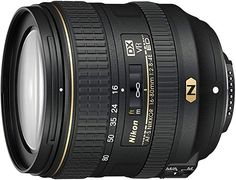 Nikon AF-S DX NIKKOR ED VR Standard Zoom Lens: Affix this lens to your Nikon DSLR camera's F-mount to capture crisp shots in low lighting thanks to VR image stabilization. A nonstick coating keeps the glass clean for sharp photos. Dslr Settings, Nikon Dslr Camera, D750 Nikon, Distancia Focal, Dslr Accessories, Standard Zoom Lens, Photography Cheat Sheets, Photography Tips, Sharp Photo