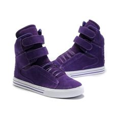Justin Bieber Supra TK Society Purple Suede Shoes ❤ liked on Polyvore