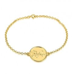From day to night this beautiful 24K gold plated script name bracelet transitions seamlessly and looks great with any outfit.