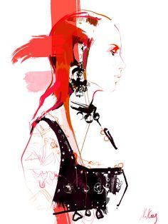 Fashion illustration_McQueen*SS17 on Behance