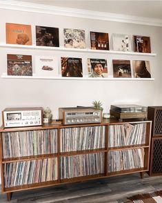 Lp Storage, Storage Ideas, Audio Rack, Record Wall, Audiophile, New Room, Magazine Rack, Bookcase, Dining Room