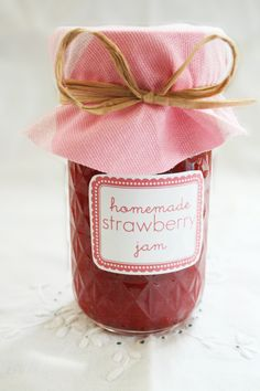 Last week I made 18 jars of strawberry jam. Anyone want to buy one? Seriously...it's a lot of jam. But they are best gifts to give away....