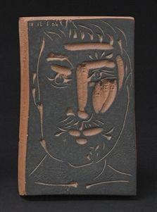 Visage d'homme by Pablo Picasso, 1966