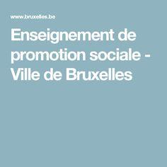 Enseignement de promotion sociale - Ville de Bruxelles