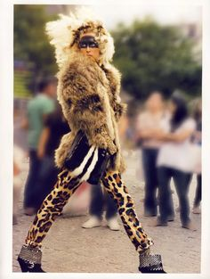 Vogue Paris November 2009 photoshoot Leopard fur Halloween costumes