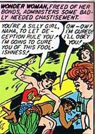 "Wonder Woman spanking ""I'm going to cure you of this foolishness!"""