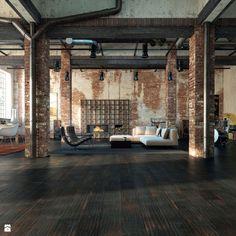 Salon styl Industrialny - zdjęcie od Barlinek - Salon - Styl Industrialny - Barlinek