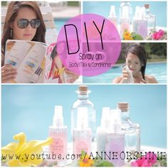 DIY :: Poolside Body Mist and Spray on conditioner  | www.annlestyle.com