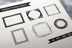 Check out Antique Frames Vectors by VL Shop on Creative Market