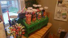 Graduation candy bar/vintage tool box