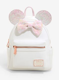 Loungefly Disney Minnie Mouse Iridescent Sequin Mini Backpack - BoxLunch Exclusive - Loungefly Disney Minnie Mouse Iridescent Sequin Mini Backpack – BoxLunch Exclusive Source by boxlunchgifts - Minnie Mouse Backpack, Mickey Mouse Balloons, Cute Mini Backpacks, Disney Purse, Disney Outfits, Emo Outfits, Disney Shirts, School Outfits, Disney Merchandise