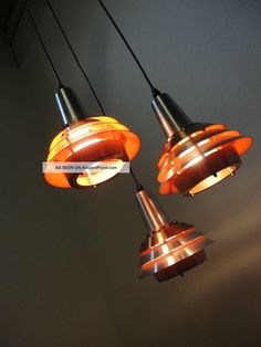60 ' S 70 ' S Modernist Danish Hanging Lamp,  Fog Morup Stilnovo Panton Eames Era Mid-Century Modernism photo
