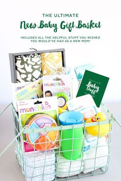 the ultimate new baby gift basket has all of the things i wish i had
