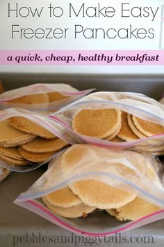 Homemade Freezer Pancakes for a super easy Breakfast....100's of the BEST…