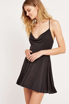 Amie Cowl Front Dress - Urban Outfitters