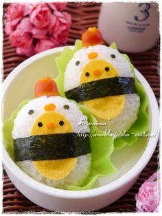 Chick and chicken onigiri