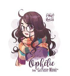 Ophélie | la passe-miroir (not mine)