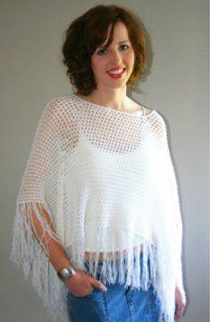 L022 Ponchos Crochet Pattern Leaflet- http://www.maggiescrochet.com/ponchos-pattern-leaflet-p-458.html#.UVRBeVeNpZ0 #crochet #poncho #style #fashion #easy #pattern