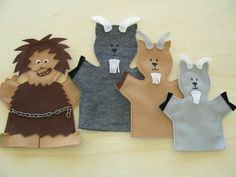 Three Billy Goats Gruff Puppets
