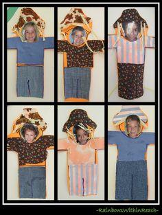 Kid Photo Fun Scarecrows...fun craft for our scarecrow theme week