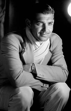 Clark Gable-The only man that could ever pull this mustache off.