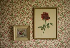 Scenery: The Fischer home. Gran Fischer painted the flowers, while Helen drew the rose.