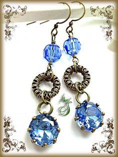 "Victorian style handmade earrings ""Marie"""